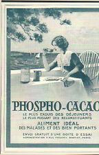 PARIS FREDERIC BASTIAT PUBLICITE DEJEUNERS PHOSPHO CACAO 1913