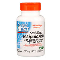 Doctor s Best  Stabilized R-Lipoic Acid with BioEnhanced Na-RALA  200 mg  60