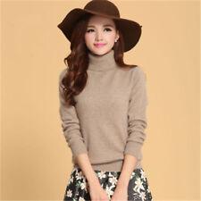 Women's Wool Blend Turtleneck Sweater Pullover High Collar Winter Soft US SHIP