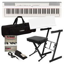 Yamaha P-121 Digital Piano - White Stage Essentials Bundle