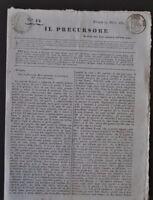 il Precursore Bologna moti 1831 n.14 giornale del governo provvisorio Molto raro