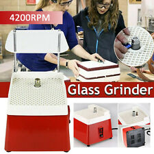 110V/65W Automatic Stained Grinder Diamond Glass Desktop Art Grinding Machine Us