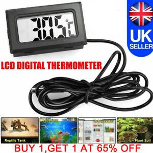 Mini Digital LCD Thermometer Temperature Meter Gauge w/ Waterproof Sensor Probe