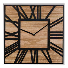 Home Living Moroccan Collection Square Mirror & Wood Wall Clock