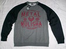 Metal Mulisha Hoodie Fleece SCOTCH CREW Raglan Grau Pullover Sweatshirt Männer M