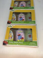 Lot of Three (3) Sesame Street Baby Bath Pack travel size