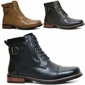 MENS ARMY BOOTS MILITARY DEALER ANKLE COMBAT BIKER FORMAL OXFORD WORK BOOT SHOES
