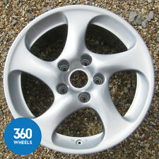 "1 x GENUINE PORSCHE 996 18"" TURBO 2 II HOLLOW SPOKE 11J ALLOY WHEEL 99636214203"