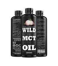 Wild MCT Oil C8 C10 C12 Wild MCT 100% Coconuts 16oz Fluid Oz by Wild Foods