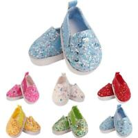 1 Pair Doll Canvas Shoes 14.5 Inch Baby Dolls P5W3