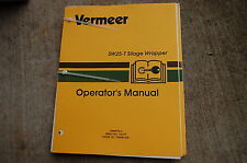 VERMEER SW25-T SILAGE WRAPPER Owner Operator Operation Maintenance Manual book