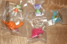 Vintage TINOSAURS 1986 McDonalds Happy Meal Toys **Lot of 5 **New In Package**