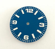 Plain Explorer / Aviator Watch Dial for ETA 2836 / 2824 Movement Blue