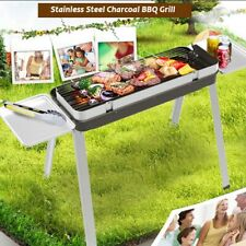 Stainless Steel Folding Portable Charcoal Barbecue BBQ Grill Stove Camping Grill