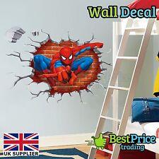 AMAZING SPIDERMAN 3D CRACK-Parete In Vinile Adesivo decalcomania Home Decor camera dei bambini
