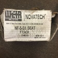 *New* Weir Novatech Pump Cast-N-Place Seat Nf-5-S1 Roughnec
