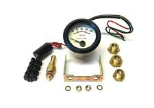 Tim 52mm 12V Electric Water Temp Gauge KIT Including Fittings, White Face 700030
