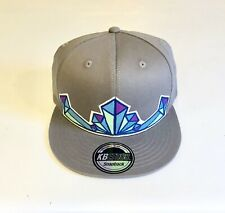 Grey Crystal Snap Back Hat, Sts9, Bassnectar, Phish, Disco Biscuits, Crystals