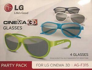 LG Cinema 3D Glasses AG-F315 Party Pack 4 Polfilterbrille NEU 3D-Brille