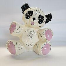"Vtg Kay Finch Hand Painted Sitting Panda Bear Figurine 8 3/4""H"