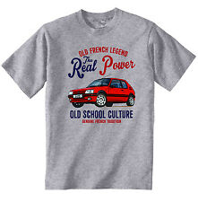 VINTAGE FRENCH CAR PEUGEOT 205 GTI 1- NEW COTTON T-SHIRT