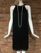 M&S Marks & Spencer 1920s Flapper Fringe Tassle Gatsby Dress Size 8 BNWT £79