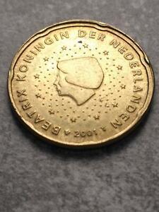 Nederland 20 Cent 2001 Error/Mistake/Fautee