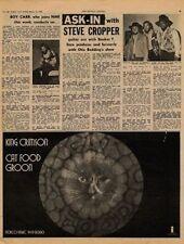 Steve Cropper UK Interview + King Crimson Groon ad 1970