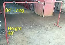 Market Stall Shop Display Cloth Rail 4ft Height x 7ft Long 6x Free Display Hooks