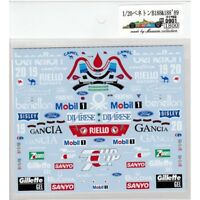 Museum Collection 1/20 Benetton B188 & 188 '89 Decal for TAMIYA D901