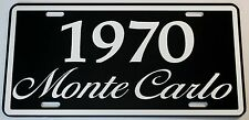 1970 70 MONTE CARLO LICENSE PLATE 350 400 454 SS LOWRIDER CHEVY
