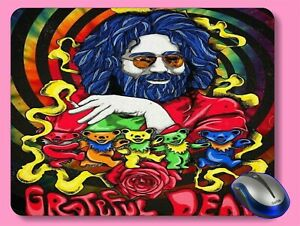 Brand New Grateful Dead Rock n Roll Computer Mouse Pad   Garcia g1t5
