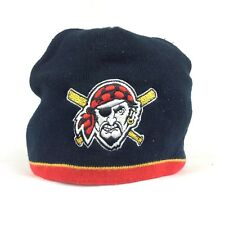 MLB Pittsburgh Pirates Black Acrylic Winter Beanie Hat Cap Adult Size
