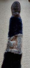 Super Soft Slim Vixen Scarf  by Helen Moore faux fur - multi colour brown/blue
