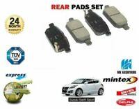 FOR SUZUKI SWIFT 1.6 SPORT M16A 2011-> NEW REAR DISC BRAKE PADS SET