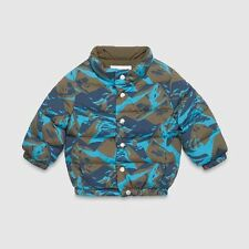 GUCCI BABY CAMO MILITARY PADDED PUFFER JACKET COAT 9-12 MONTHS