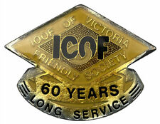 IOOF Of Victoria Friendly Society 60 Years Long Service Gold Silver pin badge
