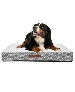 Atkins Lattice Large Orthopedic Grey Pet Bed T4101485
