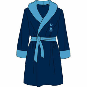 Mens Tottenham Fleece Dressing Gown Housecoat Robe Size Medium FREE UK P&P