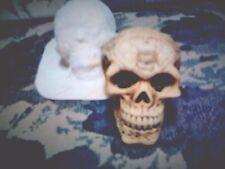 "Latex Medium Skull with ""Runes""  Mold for Plaster or Concrete"