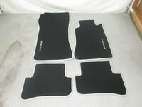 Mercedes Benz W209 CLK  Floor mats set black Right-Hand-Drive RHD with lettering