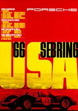 1966 Sebring - Porsche - Promotional Advertising Poster