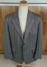 Vtg Psychedelic Mod Cigar Playboy Gangster Smoking Jacket Coat Blazer Disco XL
