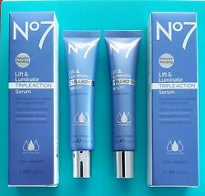 Boots No7 LIFT & LUMINATE NEWEST SERUM -TRIPLE ACTION 2 x 30ml 100% Genuine