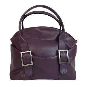 BUENO Ladies Women Bag Burgundy Purple Extra Large Shoulder Satchel Grab Handbag