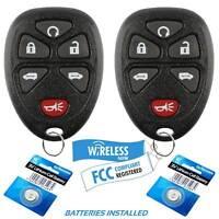 2 Car Key Fob Entry Remote 6Btn For 2005 2006 2007 2008 2009 Chevrolet Uplander