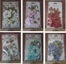 Beige Paper Scrapbooking Flower Embellishments