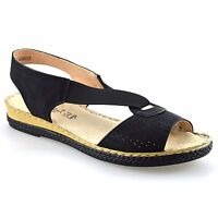 Ladies Womens Low Wedge Heel Casual Leather Espadrilles Summer Sandals Shoe Size