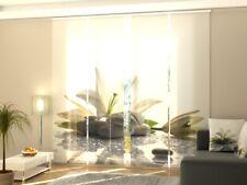 Fotogardine Lilie Flächenvorhang Digitaldruck Schiebegardinen mit Motiv auf Maß