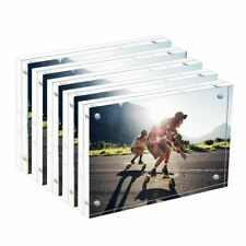 New Clear Double Sided Photo Frame Transparent Acrylic Picture Frame Home Decor